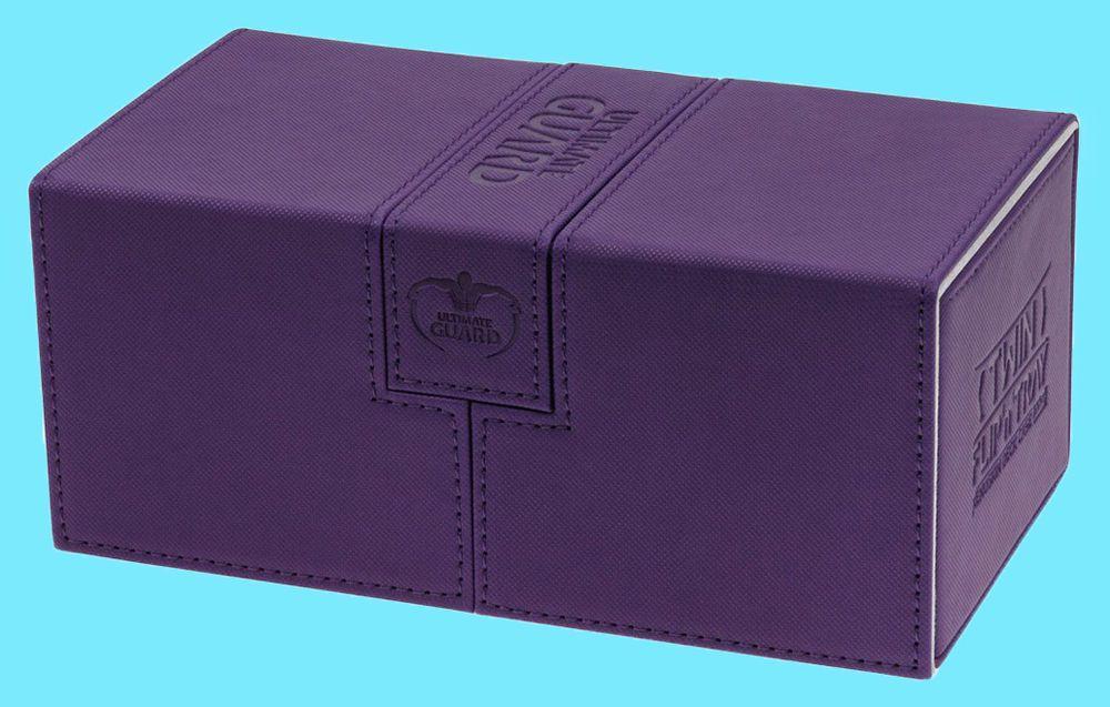BLACK Ultimate Guard TWIN FLIP/'n/'TRAY XENOSKIN™ DECK CASE 200