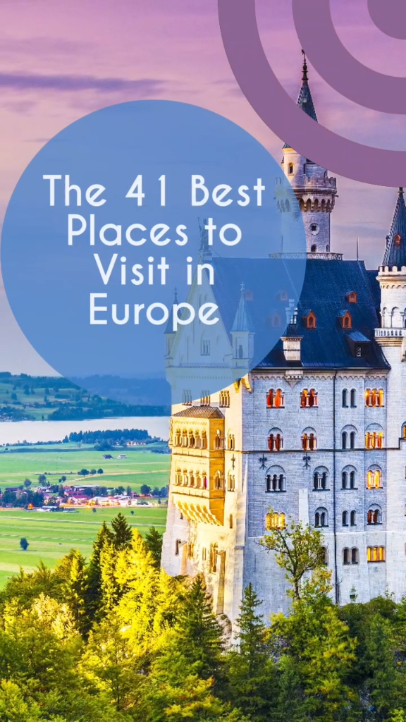 You have to visit Europe if you haven't already. We have a ton of bucket list ideas you can add to your list. Great destinations for your europe travel, beaches, castles, cities, towns, villages and tourist attractions. Countries like Austria, Italy, Uk, spain, portugal, germany and many more | travel destinations european videos italy #bucketlist #travel #europetravel #adventure #lovelife #shortbreaks #nextvacation