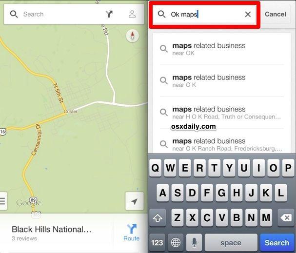 Save Google Maps for offline use -