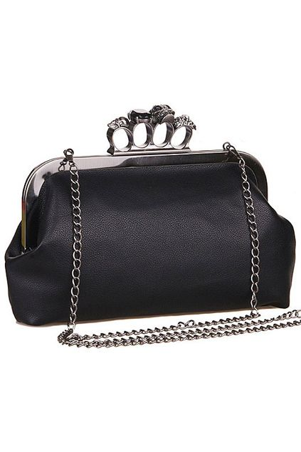 Skull and Gem Knuckle Clutch