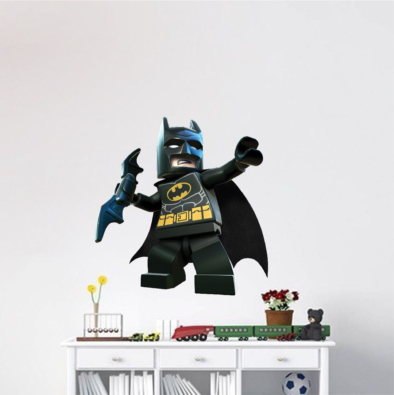 Lego batman wall decal superhero wall design the dark knight wall mural dc