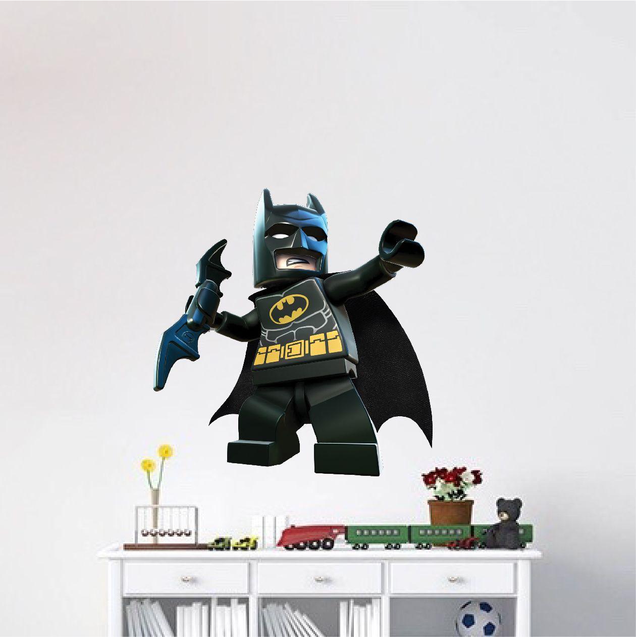 Lego Batman Wall Decal Superhero Wall Art Batman Wall