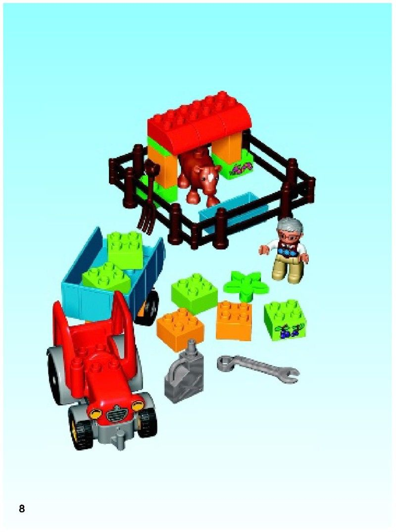 Duplo Farm Tractor Lego 10524 Projects Tractors Lego Lego Sets