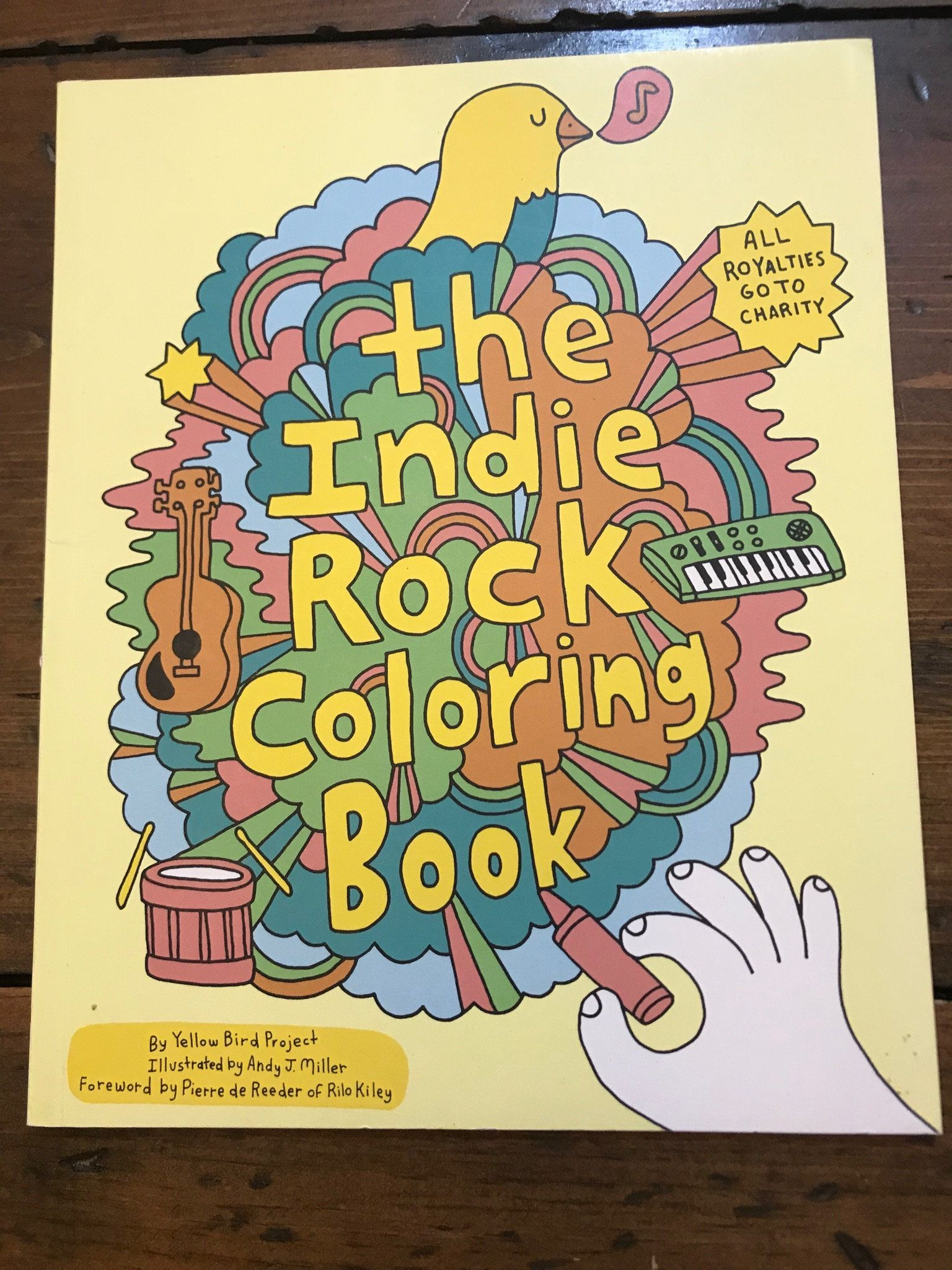 Indie Rock Coloring Book Yellow Bird Project Andy J Miller Folk