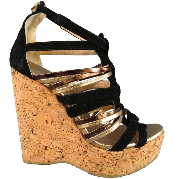 833d462e2b3 Shoes Sandals · Wedge Sandals · Cork Wedges · Pre-owned Jimmy Choo Size 6   Gold  Suede Cork Gladiator Platform.