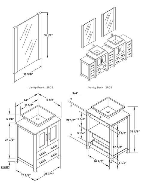 Image result for standard height for vanity with vessel ...