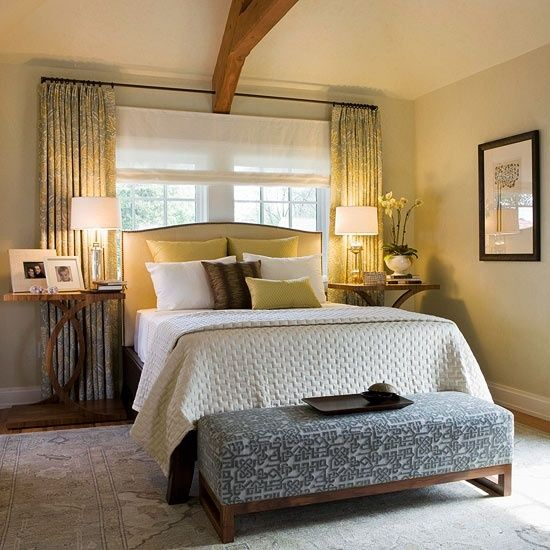 We may earn commission on some of the items you choose to buy. bed in front of window ideas | Curtain ideas for bed in