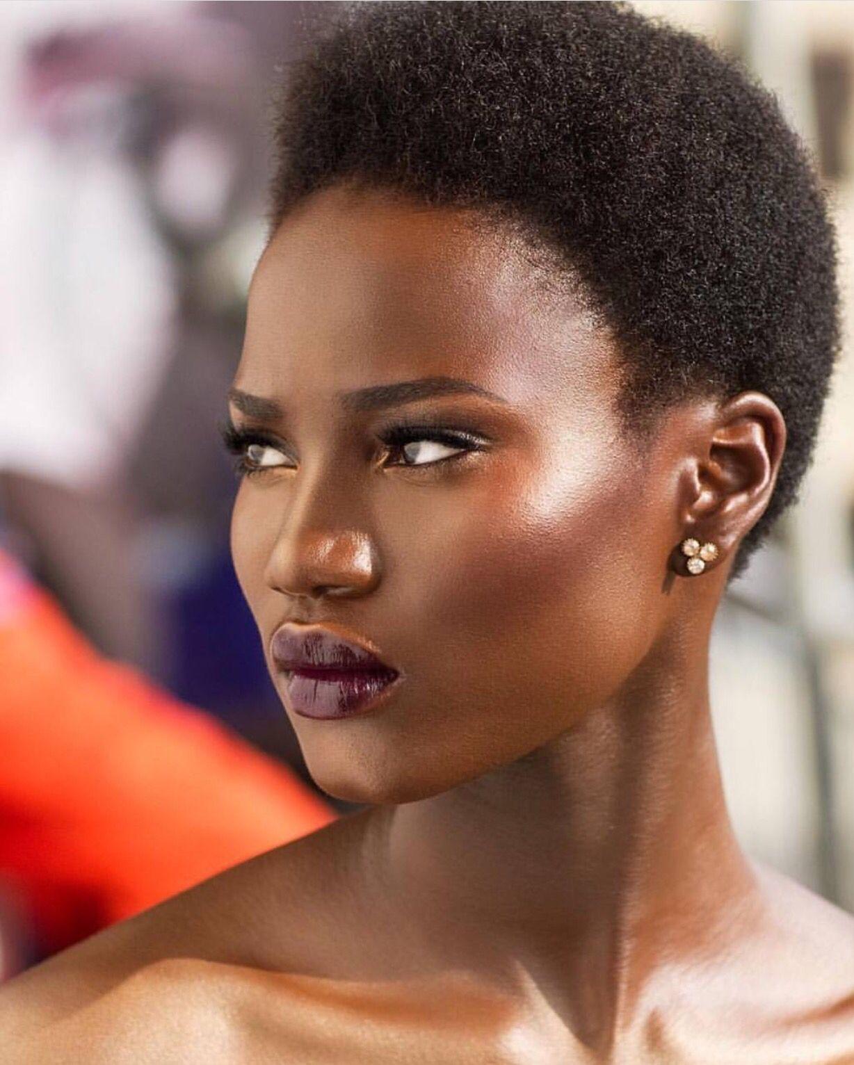 darkskin dark skin … Natural hair styles, Twa