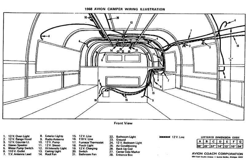 on vintage air stream trailer wiring diagram