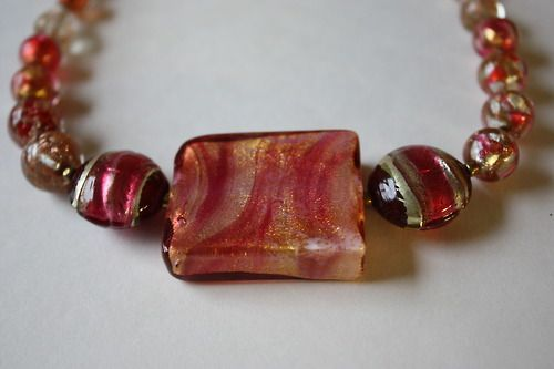 Murano glass beaded necklace by https://www.etsy.com/shop/LilacMannequin