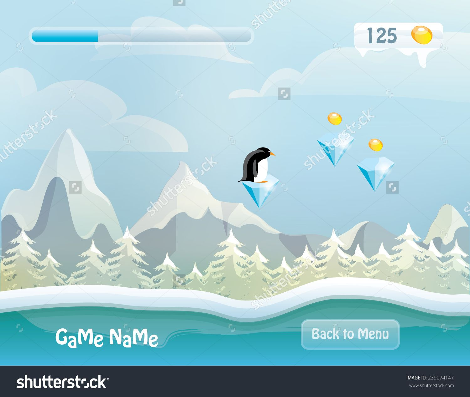 Image result for game graphics snowy Vector illustration