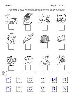 Atividade 6 para a hipótese de escrita pré-silábica. Alfabetização.