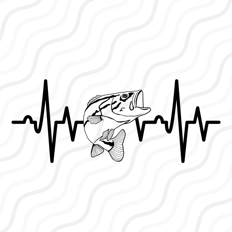 Fish Heartbeat Svg Bass Svg Fish Svg Heartbeat Svg Cut