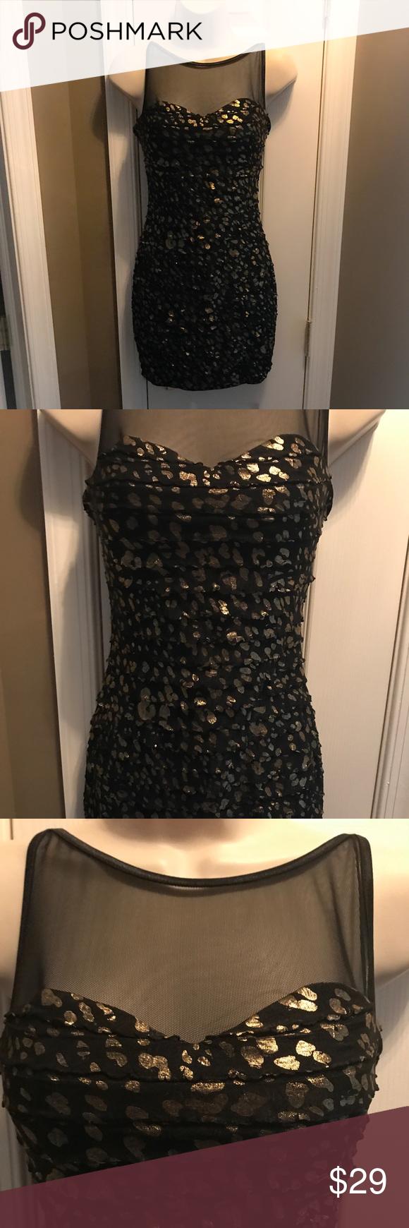 Body Central Sale >> Sale Body Central Black Gold Dress Body Central