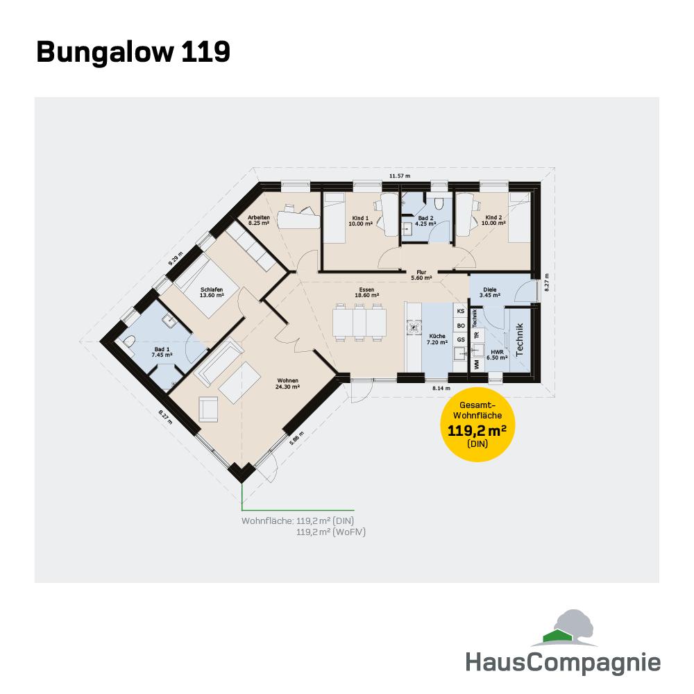 Bungalow Bauen: Bungalow Grundrisse – Bungalow Bauen Mit In 2019