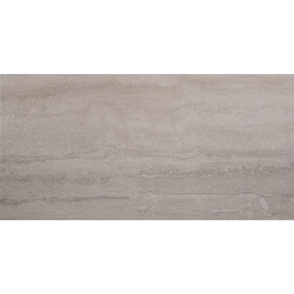 Atrium Kios Gris Glazed Porcelain Floor Tile: MSI Trevi Gris 12 In. X 24 In. Glazed Porcelain Floor And