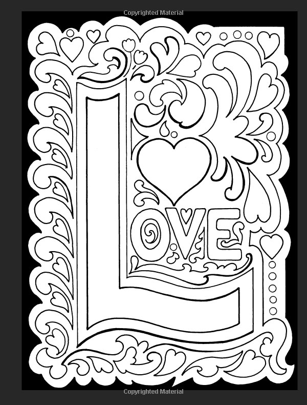 True Love Stained Glass Coloring Book Dover Eileen Rudisill