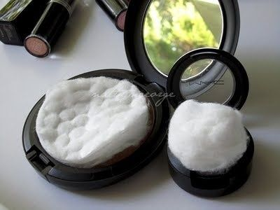 Before packing, put cotton balls and pads in your cosmetics to keep the powder from breaking. | 33 Moving Tips That Will Make Your Life So Much Easier