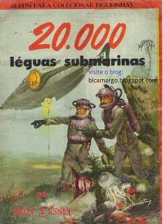 """ANOS DOURADOS: IMAGENS & FATOS: IMAGENS - Álbum de Figurinha: """"20.000 LÉGUAS SUBMARINAS"""""""
