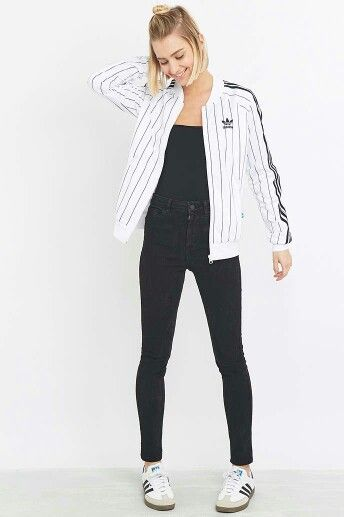 3 Stripe Crop Top by Adidas Originals ($33) ❤ liked on