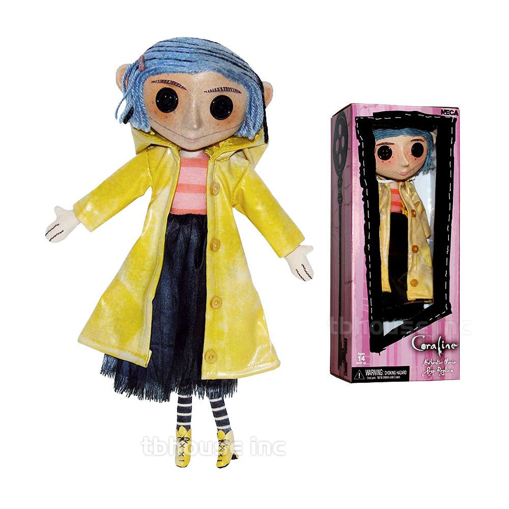 10 Coraline Doll Raincoat Boots Replica Prop Toy Rain Coat Neil Gaiman Neca Coraline Doll Coraline Doll Props