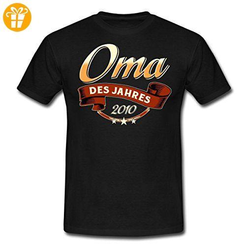 Oma Des Jahres Jahrgang 2010 RAHMENLOS Geschenk Männer T-Shirt von Spreadshirt®, 4XL, Schwarz - Shirts zum 30 geburtstag (*Partner-Link)