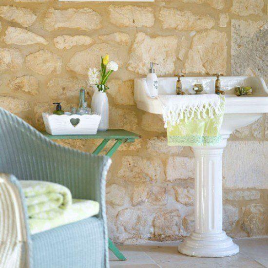Los mejores #baños rústicos, ideas y propuestas que convertirán tu