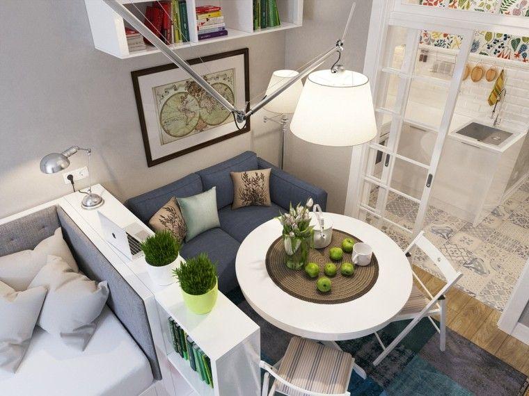 sofá pequeño y mesa blanca House Pinterest House