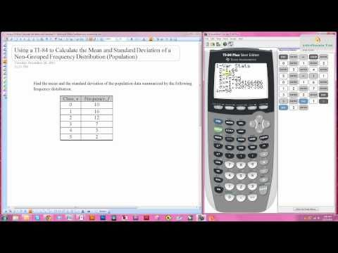 Using A Ti 84 To Calculate The Mean And Standard Deviation Of A Frequency Distribution Basic Algebra Calculator Math Tools