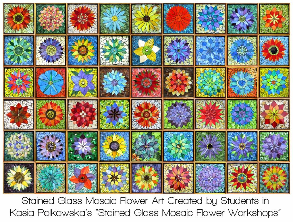 Flower Mosaic Art Designs Available in a variety