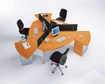 circular office desk. Triple Desk Circular Office Desk O
