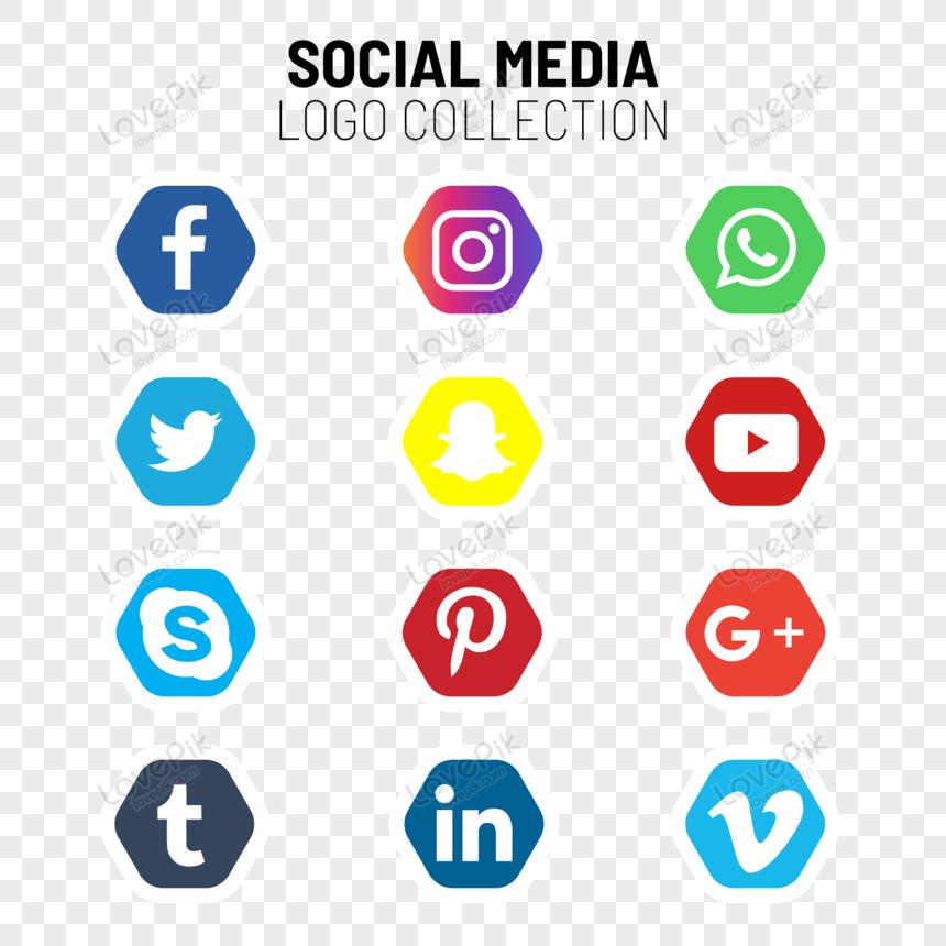 مجموعة أيقونات ووسائط التواصل الاجتماعي Social Media Logos Media Logo Social Media