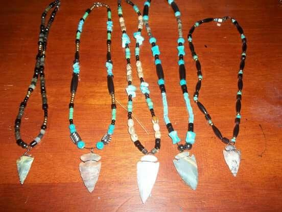 Medieval Jewellery Agate Stone Arrowhead Necklace