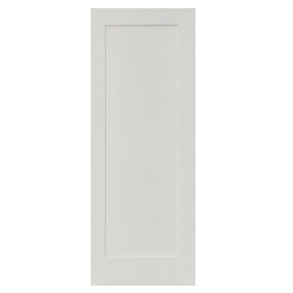 Krosswood Doors 32 In X 80 In Shaker 1 Panel Primed Solid Hybrid Core Mdf Interior Door Slab Kw Sh111 2868 Slb The Home Depot In 2020 Prehung Interior Doors Shaker Interior Doors Wood Doors Interior