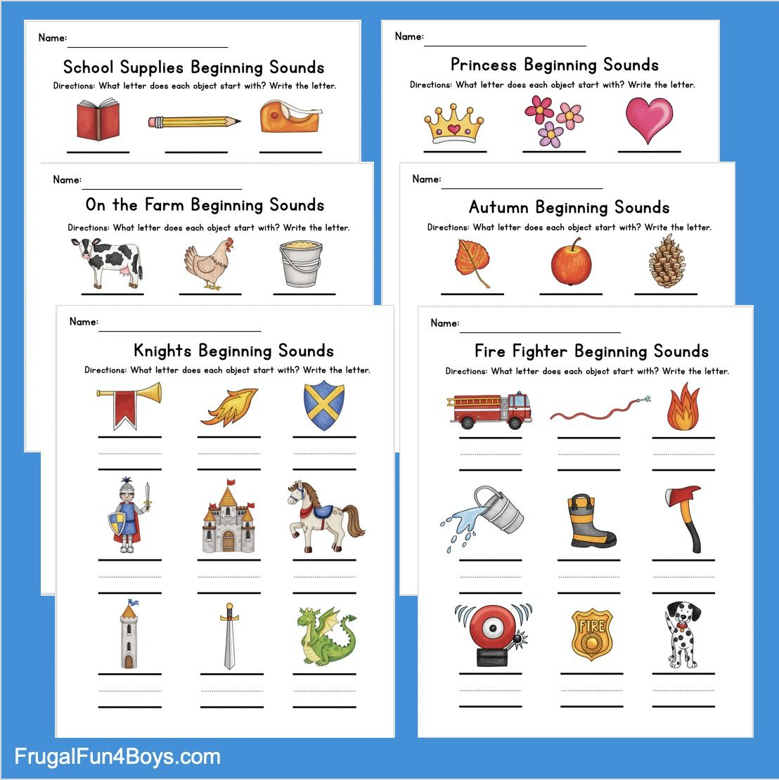Printable Beginning Sounds Phonics Worksheets Frugal Fun For Boys And Girls Phonics Worksheets Phonics Beginning Sounds Worksheets [ 1110 x 1108 Pixel ]