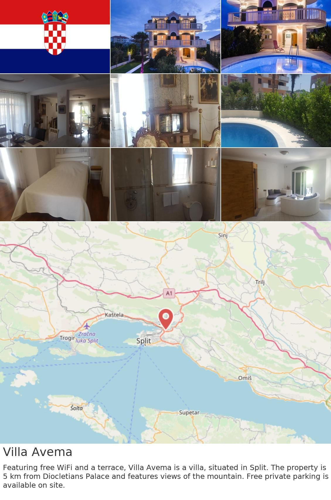 Europe Croatia Split Villa Avema Featuring Free Wifi And A Terrace Villa Avema Is A Villa Situated In Split The Property Is 5 Km From Diocletian S Palace