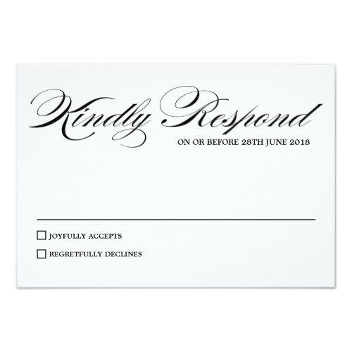 Elegant calligraphy script wedding rsvp card formal wedding formal wedding invitation rsvp elegant calligraphy script wedding rsvp card stopboris Images