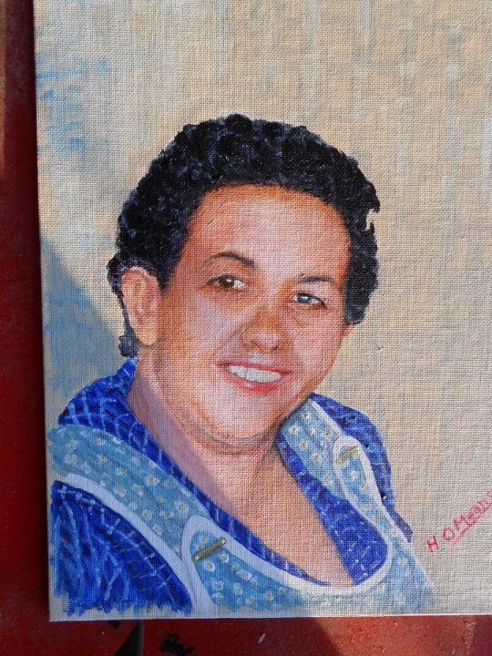 My mom(the Heart of my home)painted by my brother Henry Means.