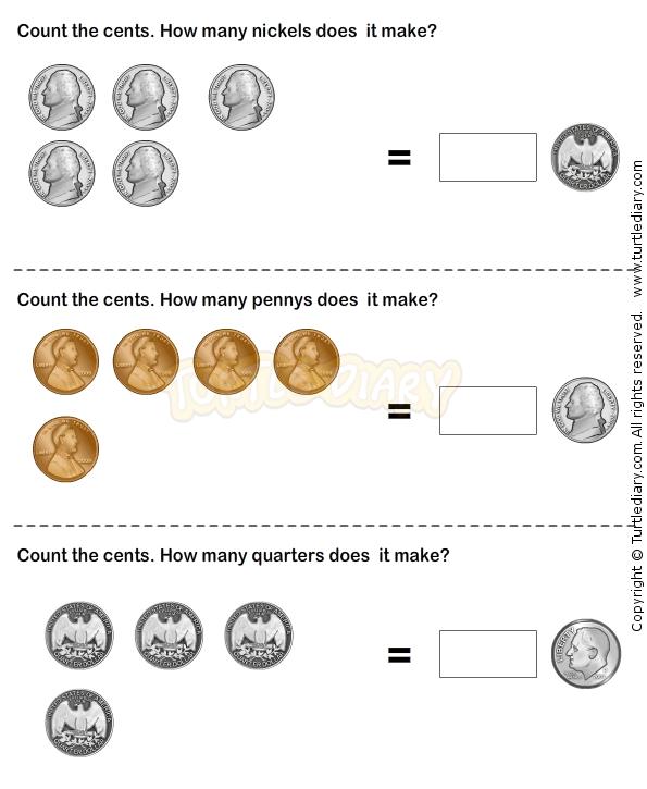 Money 25 - math Worksheets - kindergarten Worksheets | Money ...
