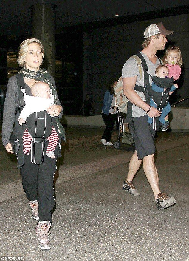 Chris Hemsworth Cuts A Paternal Figure As He Arrives In LA Family OutingElsa