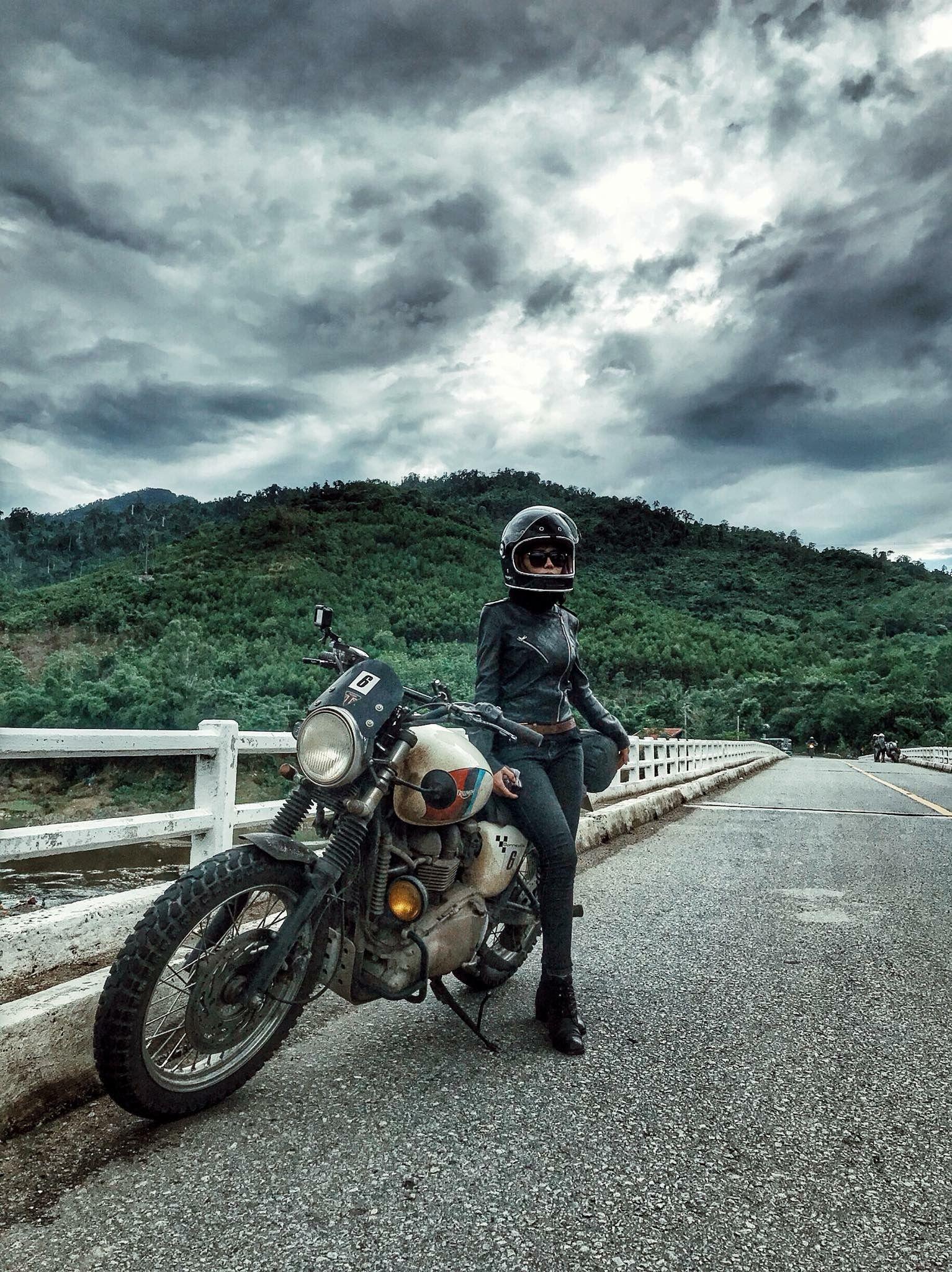 Road Trip Triumph Motrcycle Fb Vy Triệu Retro Motorcycle