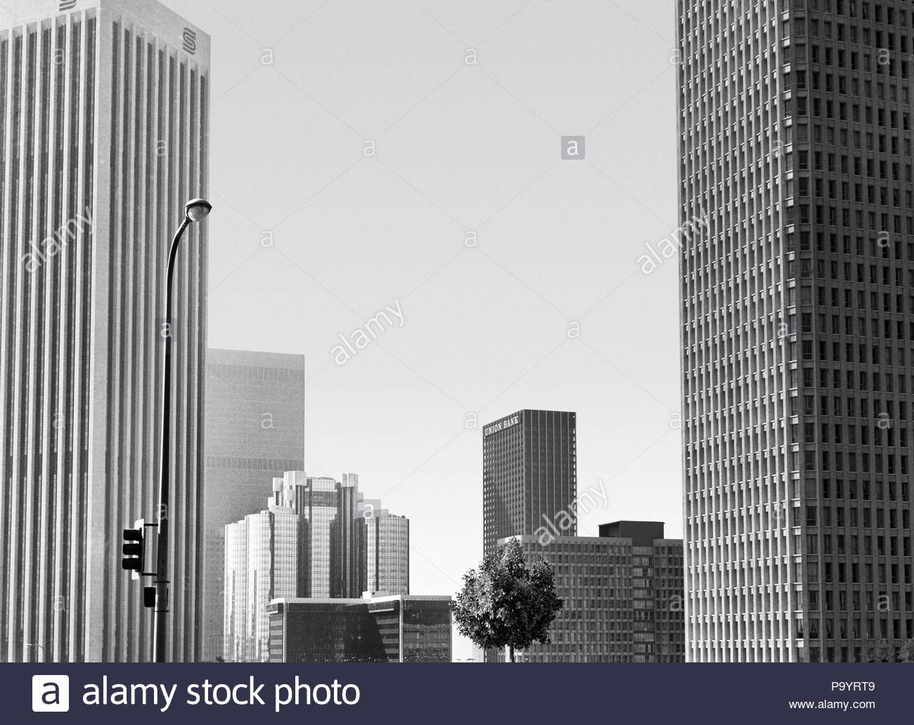 Download This Stock Image 1970s Downtown Skyline Los Angeles California Usa Asp Jo17343 Asp001 Hars Skyscr Los Angeles California Skyscraper California Usa