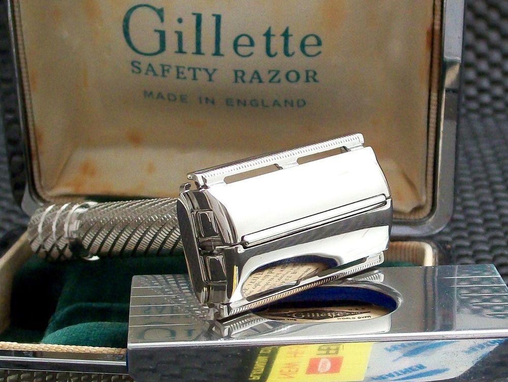 Vintage English Gillette Aristocrat No. 66 Safety Razor