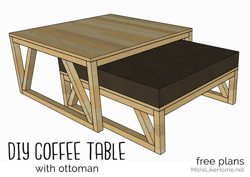 Coffee Table With Nesting Ottoman Day 3 With Images Coffee Table