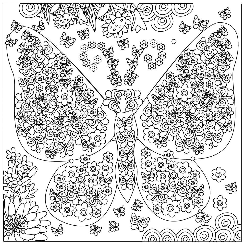 Stress free coloring book - Apps For Stress Free Coloring Books Free Of Flowers And Butterflies Stress Relief Coloring Book