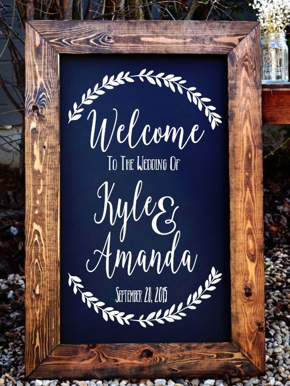 Welcome To The Wedding Of Decal // Stencil Decal // Wedding Decor // Wedding  Established // Rustic Wedding Decor / Rustic Wedding Sign
