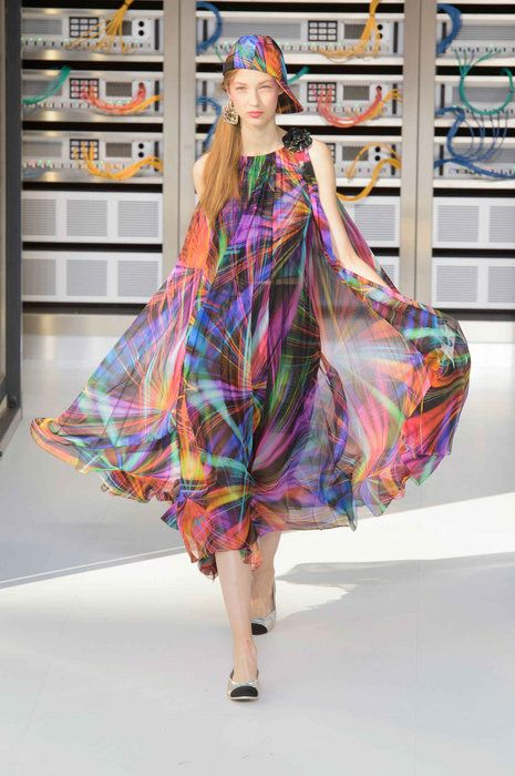 b87ceb182a5 Fashion Show Themes Become High-Tech At Chanel SS17
