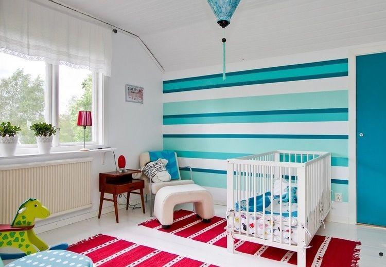 dormitorio infantil pared color celeste