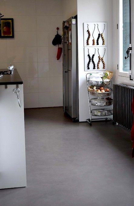 Réalisation Resinovsol, sol de cuisine en béton ciré information