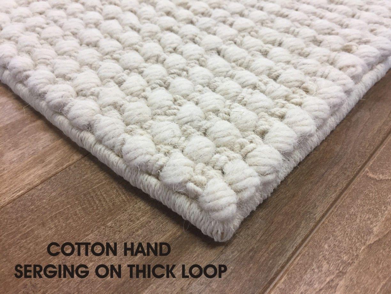 Cotton Hand Serged Edges On Thick Looped Area Rug Custom Area Rugs Area Rugs Rugs